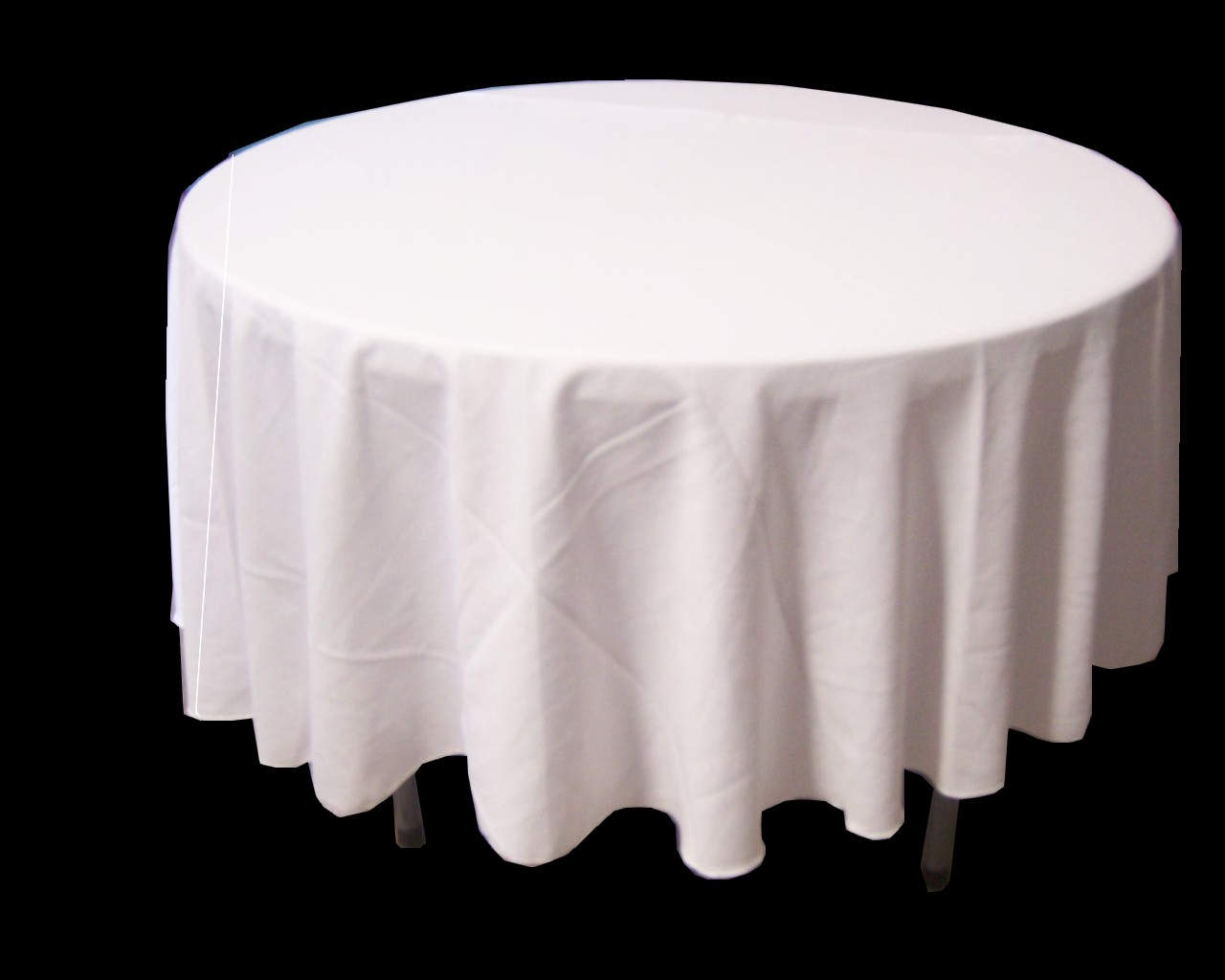 Beau White Round Tablecloth ...