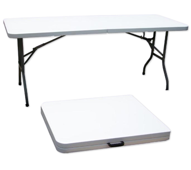 Fold Up Plastic Trestle Table L X W 8