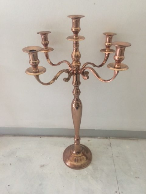 X  Cm Glass Candle Holders With Candle Rings